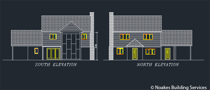 Front and Back Elevations